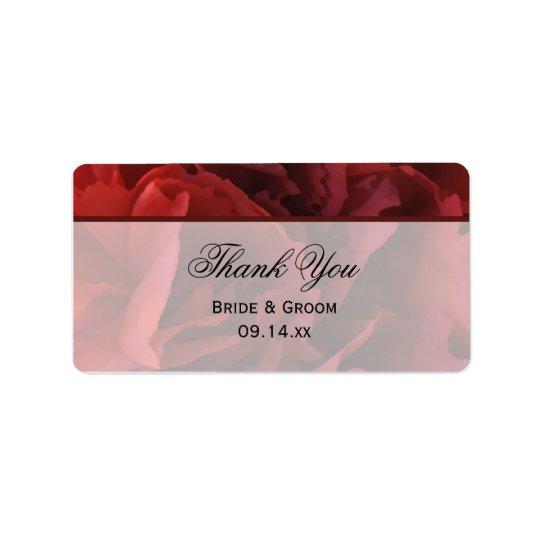 Étiquettes florales rouges de faveur de Merci de