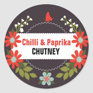 Étiquettes floraux de chutney - 3 pouces ou 1,5