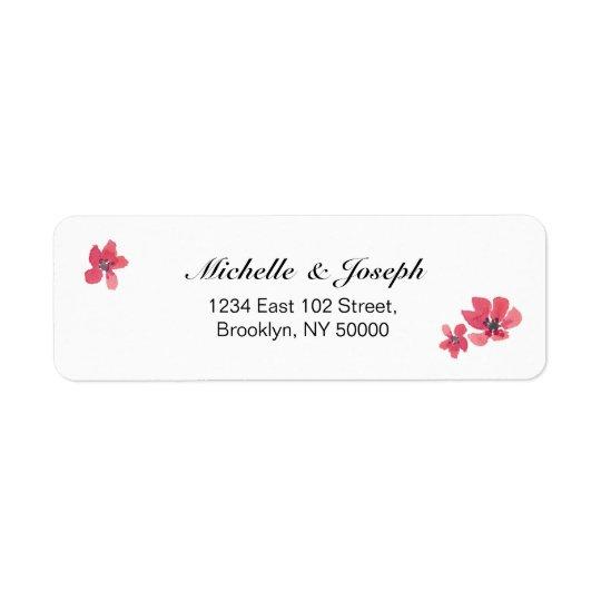 Étiquettes floraux de mariage d'aquarelle rose
