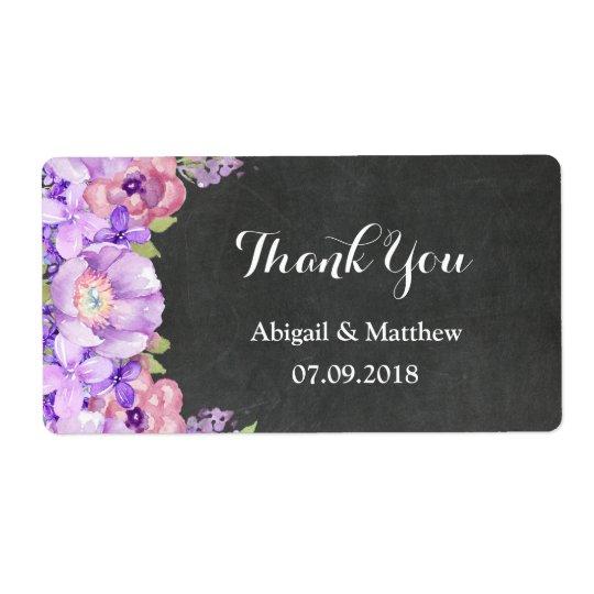 Étiquettes floraux de mariage de lavande pourpre