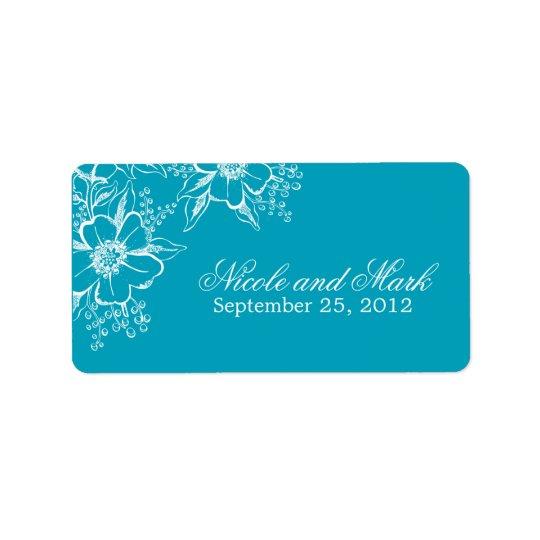 Étiquettes floraux élégants de faveur de mariage