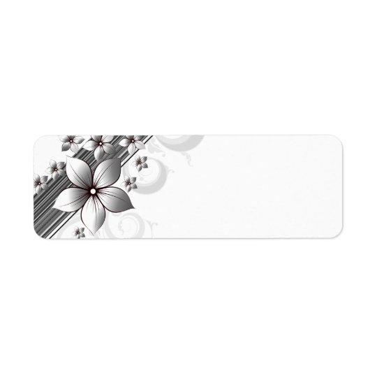 Étiquettes floraux élégants de frontière dans le