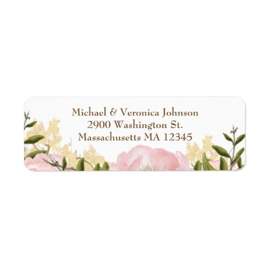 Étiquettes floraux roses