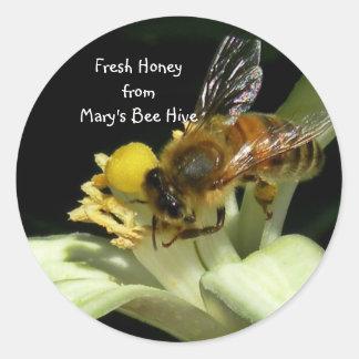 Étiquettes frais d'autocollant de ruche d'abeille