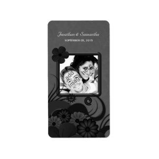 Étiquettes gothiques floraux de faveur de photo