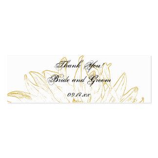 Étiquettes graphiques de faveur de mariage de tour modèles de cartes de visite