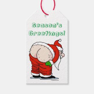 Étiquettes grossières de cadeau de Père Noël