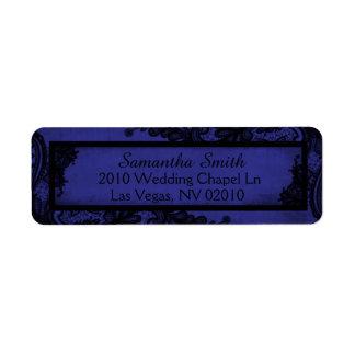 Étiquettes grunges royaux gothiques de mariage de