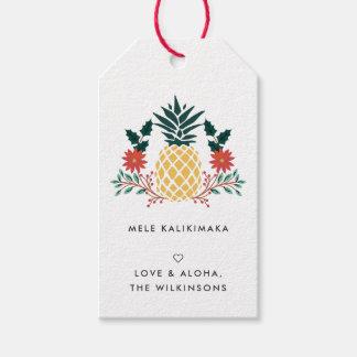 Étiquettes hawaïennes de cadeau de Noël de Mele