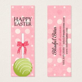 Étiquettes heureuses de Pâques de bruits de gâteau Mini Carte De Visite