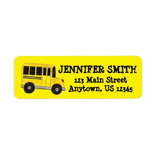 Étiquettes jaunes de professeur d'éducation de