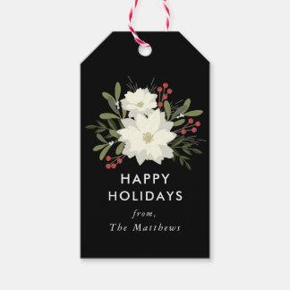Étiquettes joyeuses de cadeau de Noël de