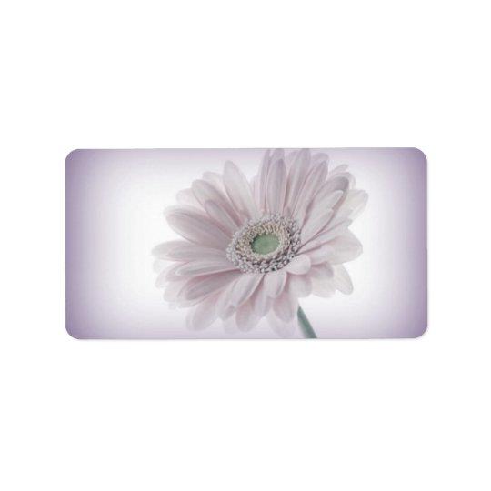 Étiquettes lilas pâles de tournesol
