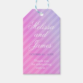 Étiquettes lilas roses élégantes en pastel de