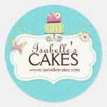 Étiquettes lunatiques de gâteau autocollant rond