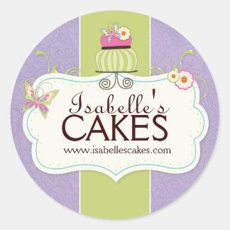 Étiquettes lunatiques de gâteau sticker rond