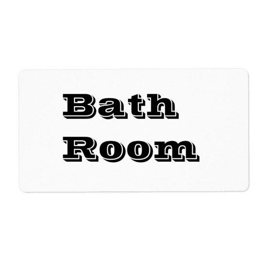 Étiquettes mobiles de pièce de Bath dans le blanc
