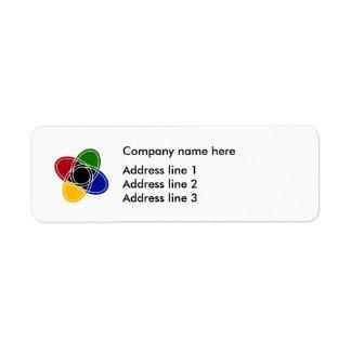 Étiquettes modernes de modèle d'adresse de logo
