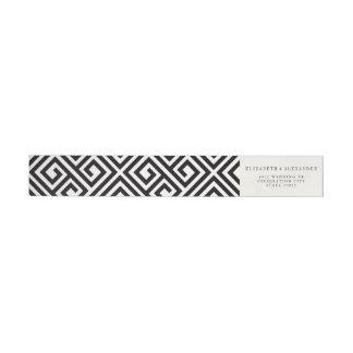 Étiquettes modernes géométriques classiques de