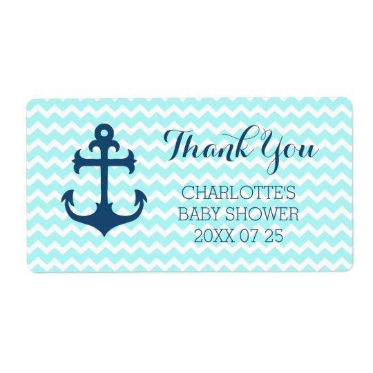 Étiquettes nautiques bleus de faveur de baby