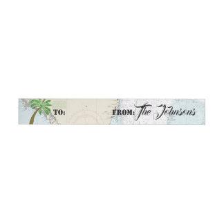Étiquettes nautiques de cadeau de la Floride de
