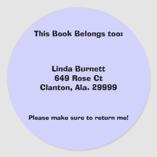 Étiquettes personnalisés customisés de livre sticker rond