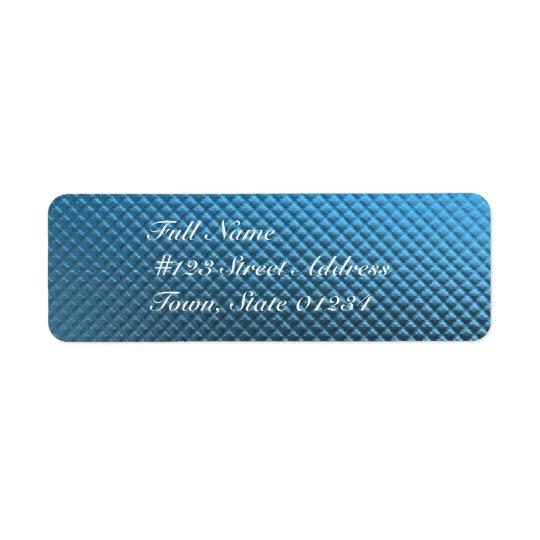 Étiquettes postales bleues d'aluminium