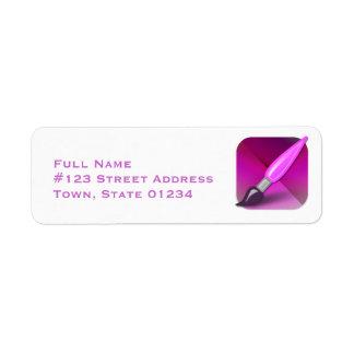Étiquettes postales d'artisan