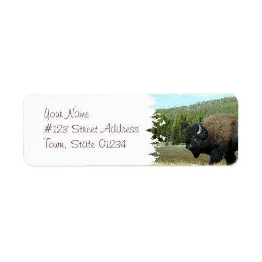 Étiquettes postales de bison