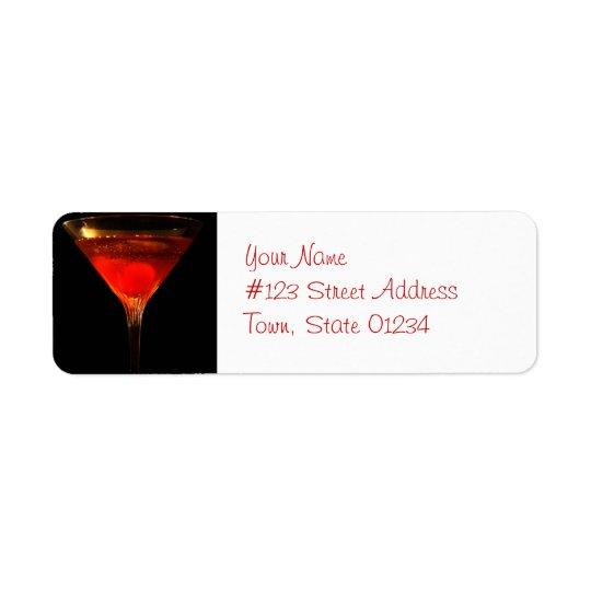 Étiquettes postales de cocktail de Manhattan