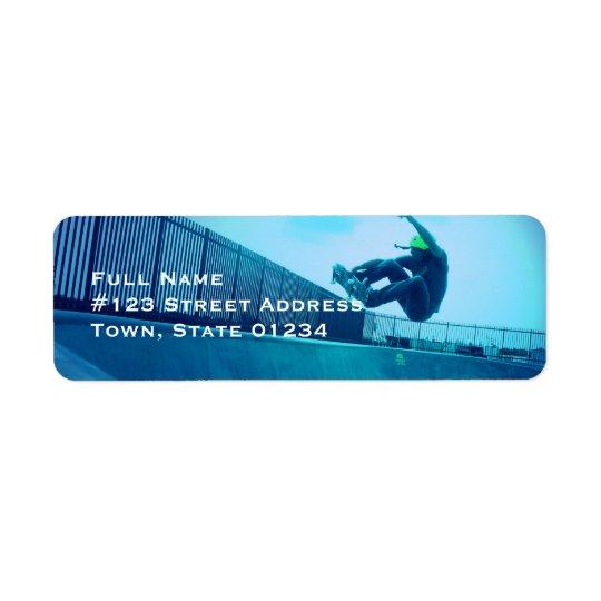 Étiquettes postales de planche à roulettes