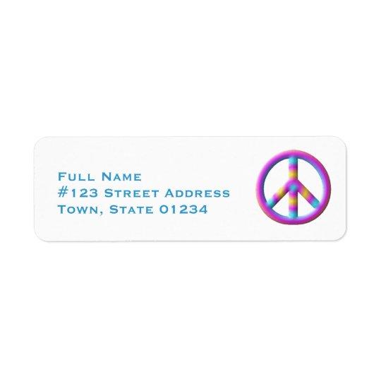 Étiquettes postales de symbole de paix