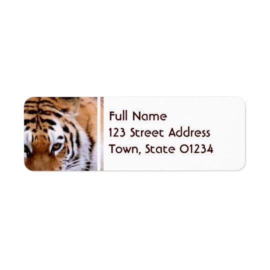 Étiquettes postales d'inscriptions de tigre