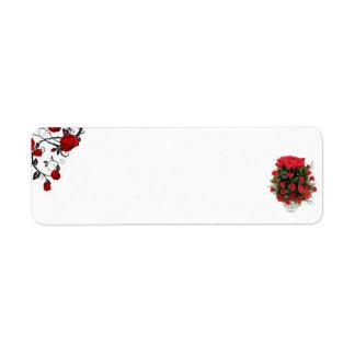 Étiquettes postales roses