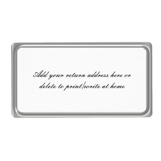 Étiquettes postales simples de cadre de gris