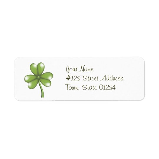 Étiquettes postales vertes de shamrock