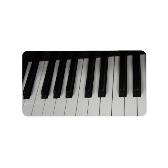 Étiquettes principaux de piano
