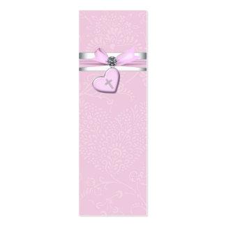 Étiquettes roses de Bomboniere de croix de rose de Carte De Visite Petit Format