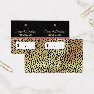 Étiquettes roses de coup de boutique de beauté cartes de visite
