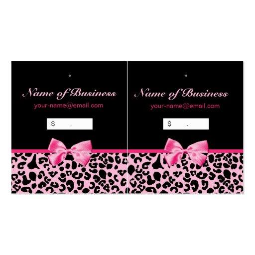 Étiquettes roses et noires à la mode de coup de ro modèles de cartes de visite