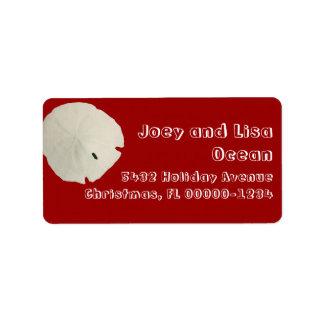 Étiquettes rouges et blancs de thème tropical de