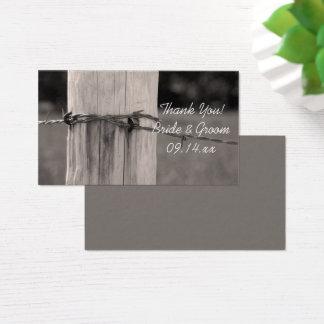 Étiquettes rurales de faveur de mariage de ranch cartes de visite