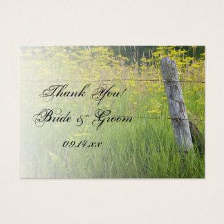 Étiquettes rustiques de faveur de mariage cartes de visite