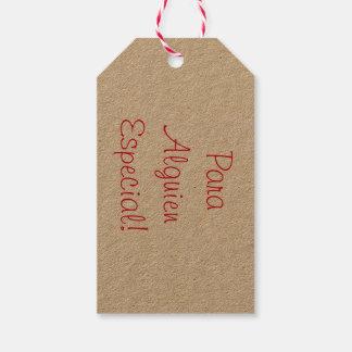 Étiquettes simples de cadeau