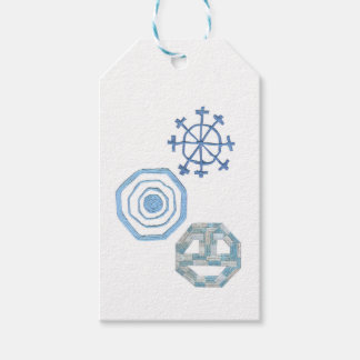 Étiquettes spéciales de cadeau de flocon de neige
