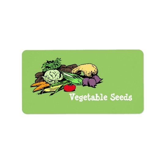 Étiquettes végétaux de graine