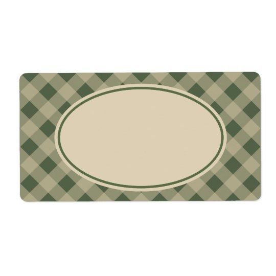 Étiquettes verts rustiques de guingan