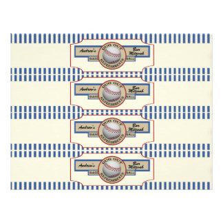 Étiquettes vintages de bouteille du base-ball do-i prospectus 21,6 cm x 24,94 cm