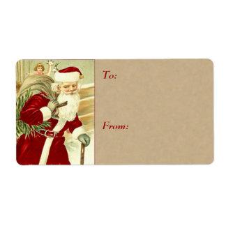 Étiquettes vintages de cadeau de Noël - grandes