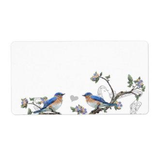 Étiquettes vintages d'oiseau bleu